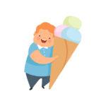 おやつの食べ過ぎで太る子供