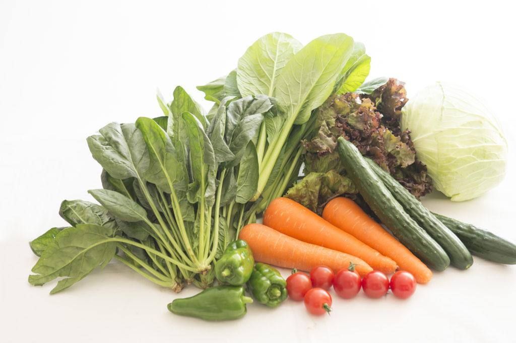 野菜と一緒に食べてGI値の上昇を抑える