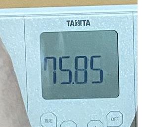 2020年8月24日の体重エア縄跳びダイエット